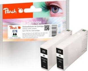 Peach Doppelpack Tintenpatronen schwarz kompatibel zu Epson No. 79, T7911*2 (wiederaufbereitet)