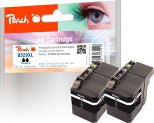 Peach Doppelpack Tintenpatronen XL schwarz kompatibel zu Brother LC-529XL BK*2 (wiederaufbereitet)