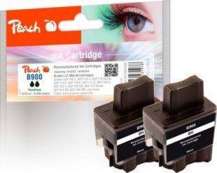 Peach Doppelpack Tintenpatronen schwarz kompatibel zu Brother LC-900bk*2 (wiederaufbereitet)