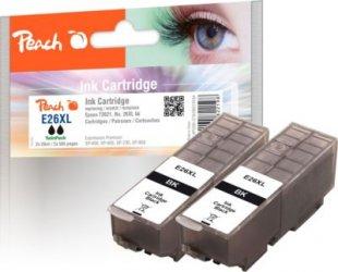 Peach Doppelpack Tintenpatronen schwarz kompatibel zu Epson No. 26XL bk, T262140