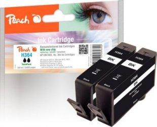 Peach Doppelpack Tintenpatrone schwarz kompatibel zu HP No. 364, CB316EE