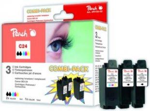 Peach Spar Pack Tintenpatronen kompatibel zu Canon BCI-24-series