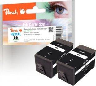 Peach Doppelpack Tintenpatrone schwarz HC kompatibel zu HP No. 934XL, C2P23AE