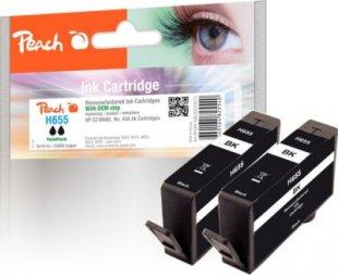 Peach Doppelpack Tintenpatronen schwarz kompatibel zu HP No. 655, CZ109AE