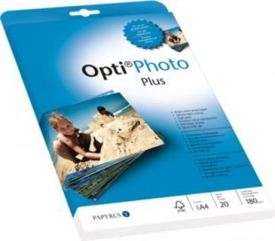 Papyrus Fotopapier Opti Photo Plus, weiß, geriest, FSC, A4, 20 Blatt