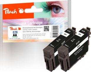 Peach Doppelpack Tintenpatronen schwarz kompatibel zu Epson No. 29 bk*2, T2981 (wiederaufbereitet)