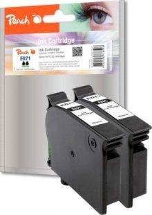 Peach Doppelpack Tintenpatronen schwarz kompatibel zu Epson T0711