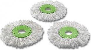 3x Ersatz Set Mikrofaser Wischköpfe Mop f. Spin &amp Pro Wischmop Schleuder ´´Duo´´
