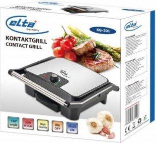 Elta Edelstahl Kontaktgrill Tischgrill Elektro Grill Sandwich Maker Toaster