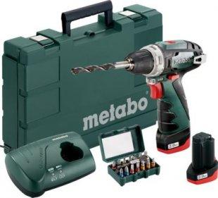 Metabo Akku-Bohrschrauber 600080920 N(Bit-Box) PowerMaxx BS Basic-Set 2x 10,8V/2,0Ah
