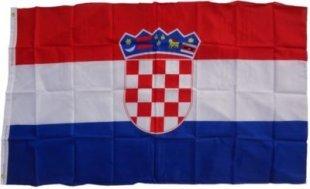 XXL Flagge Kroatien 250 x 150 cm Fahne mit 3 Ösen 100g/m² Stoffgewicht