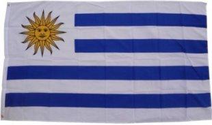 XXL Flagge Uruguay 250 x 150 cm Fahne mit 3 Ösen 100g/m² Stoffgewicht