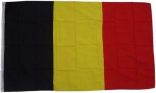 XXL Flagge Belgien 250 x 150 cm Fahne mit 3 Ösen 100g/m² Stoffgewicht