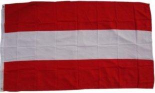 XXL Flagge Österreich 250 x 150 cm Fahne mit 3 Ösen 100g/m² Stoffgewicht