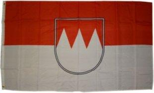 XXL Flagge Franken 250 x 150 cm Fahne mit 3 Ösen 100g/m² Stoffgewicht