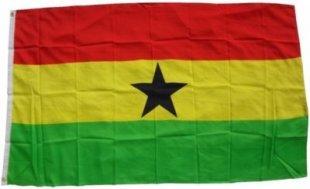 XXL Flagge Ghana 250 x 150 cm Fahne mit 3 Ösen 100g/m² Stoffgewicht