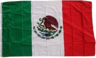 XXL Flagge Mexiko 250 x 150 cm Fahne mit 3 Ösen 100g/m² Stoffgewicht