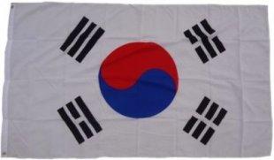 XXL Flagge Südkorea 250 x 150 cm Fahne mit 3 Ösen 100g/m² Stoffgewicht