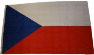XXL Flagge Tschechien 250 x 150 cm Fahne mit 3 Ösen 100g/m² Stoffgewicht