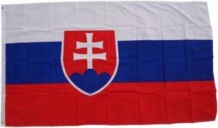 XXL Flagge Slowakei 250 x 150 cm Fahne mit 3 Ösen 100g/m² Stoffgewicht