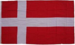 XXL Flagge Dänemark 250 x 150 cm Fahne mit 3 Ösen 100g/m² Stoffgewicht