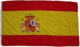 XXL Flagge Spanien 250 x 150 cm Fahne mit 3 Ösen 100g/m² Stoffgewicht