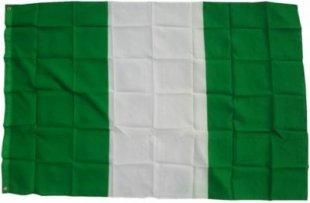 XXL Flagge Nigeria 250 x 150 cm Fahne mit 3 Ösen 100g/m² Stoffgewicht