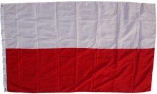 XXL Flagge Polen 250 x 150 cm Fahne mit 3 Ösen 100g/m² Stoffgewicht
