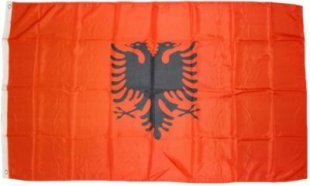 XXL Flagge Albanien 250 x 150 cm Fahne mit 3 Ösen 100g/m² Stoffgewicht
