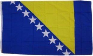 XXL Flagge Bosnien-Herzogowina 250 x 150 cm Fahne mit 3 Ösen 100g/m² Stoffgewicht