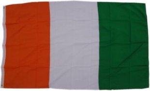 XXL Flagge Elfenbeinküste 250 x 150 cm Fahne mit 3 Ösen 100g/m² Stoffgewicht