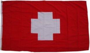 XXL Flagge Schweiz 250 x 150 cm Fahne mit 3 Ösen 100g/m² Stoffgewicht