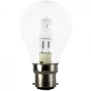 Calex Halogenlampe Energy Saving A55 Clear - B22, 240V - 28W