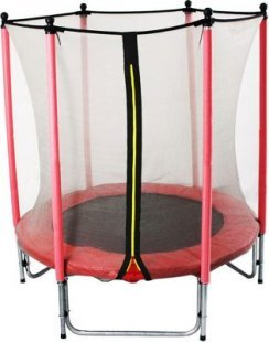 GSD Kinder Trampolin 140 cm mit Netz rot