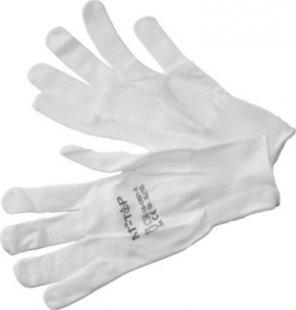 12x NIT-TOP Nylon Strickhandschuhe weiss Handschuhe Arbeitshandschuhe Montage