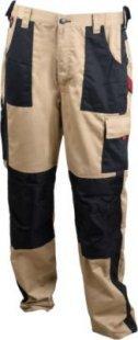 Robuste Herren Arbeits-Bundhose mit schwarzen Taschen, Beige/xl