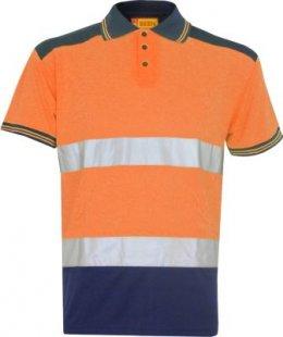 BSeen Warnschutz Poloshirt Gr 2XL Warnkleidung Bau T-Shirt Arbeitsschutz orange