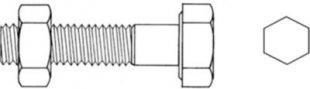 T&J Durchgangsschrauben für H-Pfostenanker, verzinkter Stahl