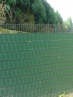 FVG Sichtschutzstreifen für Gittermattenzäune, moosgrün