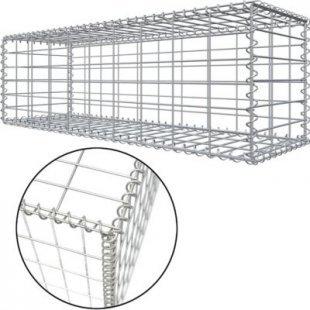 Niederberg Metall Gabione 100x30x30cm befüllbarer Steinkorb Steinzaun Sichtschutz Lärmschutz Maschen