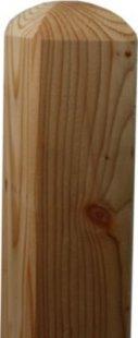 Lärche Holzpfosten 68x68mm 125cm Kreuzholzpfosten Bischofsmütze Zaunpfosten Kantholz