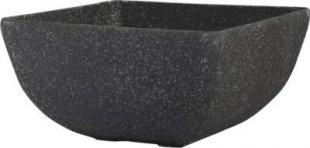 Schale-FRAME-M, Stone-lite schwarz, 48x48x20.5