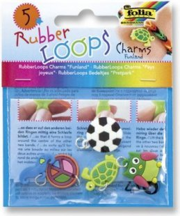 Rubber Loops Charms ´´Funland´´, 5 Stück, 5 Motive