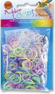 Folia Rubber Loops Loom Gummibänder, mehrfarbig (500er Pack)