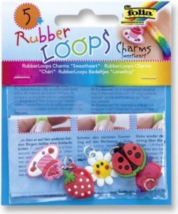 Rubber Loops Charms ´´Sweetheart´´, 5 Stück, 5 Motive