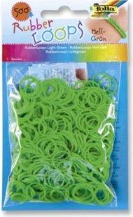 Folia Rubber Loops Loom Gummibänder, hellgrün (500er Pack)
