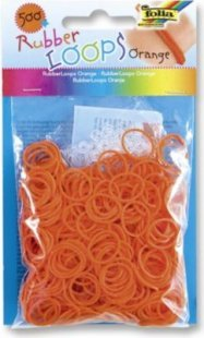 Folia Rubber Loops Loom Gummibänder, orange (500er Pack)