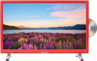 MEDION® LIFE® P12501 Fernseher, 54,6 cm (21,5´´) LED-Backlight, HD Triple Tuner, integrierter DVD-Player, CI+ Modul, rot