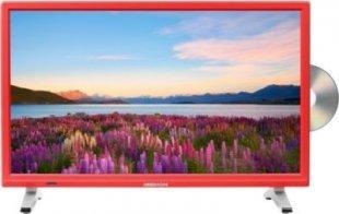 MEDION® LIFE® P12501 Fernseher, 54,6 cm (21,5´´) LED-Backlight, HD Triple Tuner, integrierter DVD-Player, CI+ Modul, rot