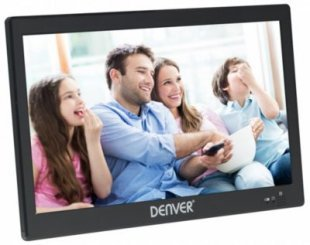Denver 1031 tragbarer 10,1 Zoll LED TV Fernseher DVB-T2 USB Mediaplayer mit Akku